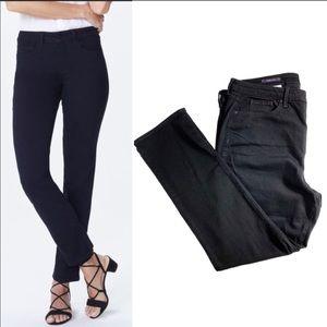 NYDJ Sheri Slim Black Straight Leg Jeans NWT